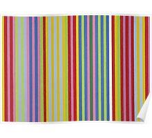 Colorful Retro Stripes Poster