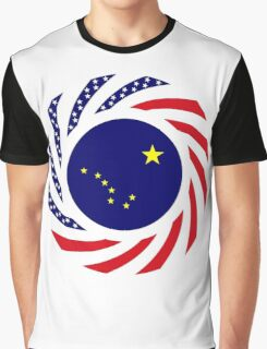 Alaskan Murican Patriot Flag Series Graphic T-Shirt