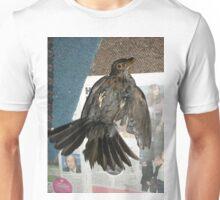 Cat brought in a half dead bird -(310516)- digital photo Unisex T-Shirt