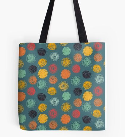 Colorful abstract scribble design Tote Bag