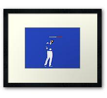 Joey Bat Flip Framed Print
