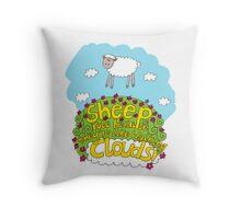 Sheep Cloud Throw Pillow