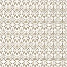 Beige And White Damask Pattern by destei