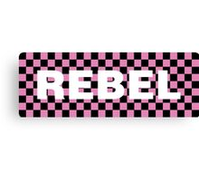 Pink Checkered Rebel Canvas Print