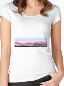 Red, White And Blue Hills Of The Tonto Women's Fitted Scoop T-Shirt