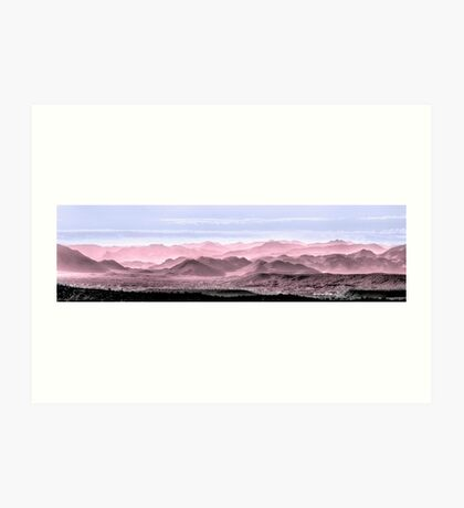 Red, White And Blue Hills Of The Tonto Art Print
