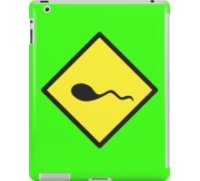 sperm crossing yellow warning sign iPad Case/Skin