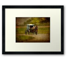 An Amish Country Ride Framed Print