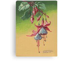 Fuchsia - acrylic on canvas Canvas Print