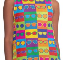 Pop Art Eyeglasses Contrast Tank