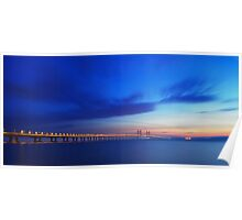 The Severn Bridge from Severn Beach. Poster