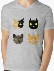 Kitties Mens V-Neck T-Shirt