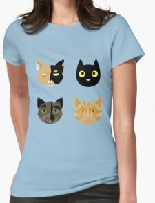 Kitties Womens Fitted T-Shirt