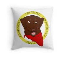 Stamp of Approval: Chocolate Throw Pillow