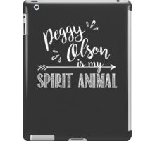 Peggy Olson Is My Spirit Animal Mad Men TV Show Chalkboard Design iPad Case/Skin