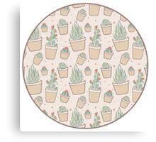 Cactus and Succulent Plants Canvas Print