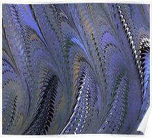 Retro Marbleized Waves Poster