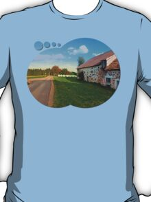 Traditional farmhouse scenery | landscape photography T-Shirt