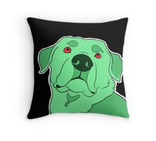 Dramatic Lab in Mint Throw Pillow