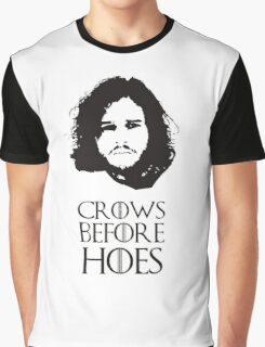 Crows Before Hoes Graphic T-Shirt