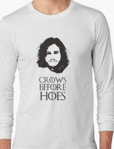 Crows Before Hoes Long Sleeve T-Shirt