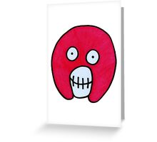 Mighty Boosh Skull - Pink Greeting Card