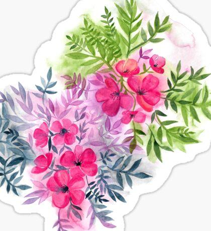 Dual Bouquets - a watercolor floral Sticker