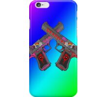 how deadpool's guns should've looked like in the movie iPhone Case/Skin