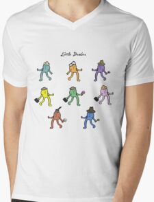 Little Dudes Mens V-Neck T-Shirt