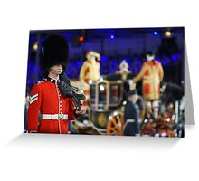 Soldier & Royal coach Greeting Card