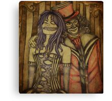 Twisted the Clown and Papa Lazarou Canvas Print