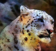 Mostly White:  Snow Leopard by Bunny Clarke