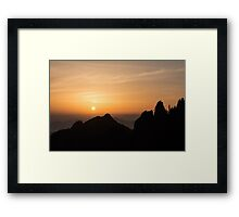 Yellow Mountains at sunrise Framed Print