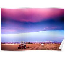 Colorado Country Intense Morning View Poster