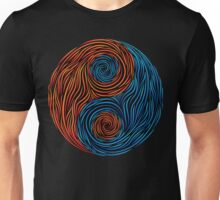 Yin and Yang, Fire and water Unisex T-Shirt