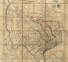 Antique Map of Texas from 1841 by bluemonocle