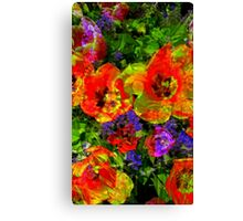 Mashed Up Tulips Canvas Print