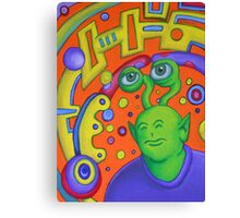 Portrait of Rusty the Alien Canvas Print