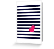 Stripes & Heart Greeting Card