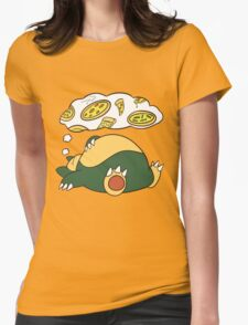 Dreamin Snorlax Womens Fitted T-Shirt
