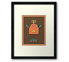 Cute Retro Robot Toy Framed Print