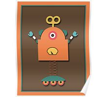 Cute Retro Robot Toy Poster
