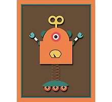 Cute Retro Robot Toy Photographic Print