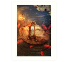 Columbus the Squirrel Art Print