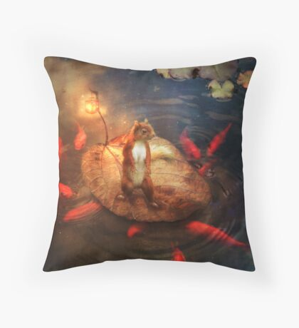 Columbus the Squirrel Throw Pillow