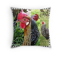Just us Chickens Throw Pillow