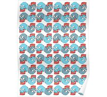 Spots and Stripes Skull Poster
