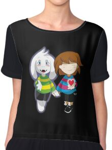 Undertale Asriel and Frisk Together  Chiffon Top