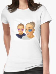 Martin and Amanda Womens Fitted T-Shirt