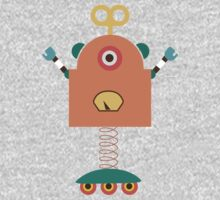 Cute Retro Robot Toy One Piece - Short Sleeve